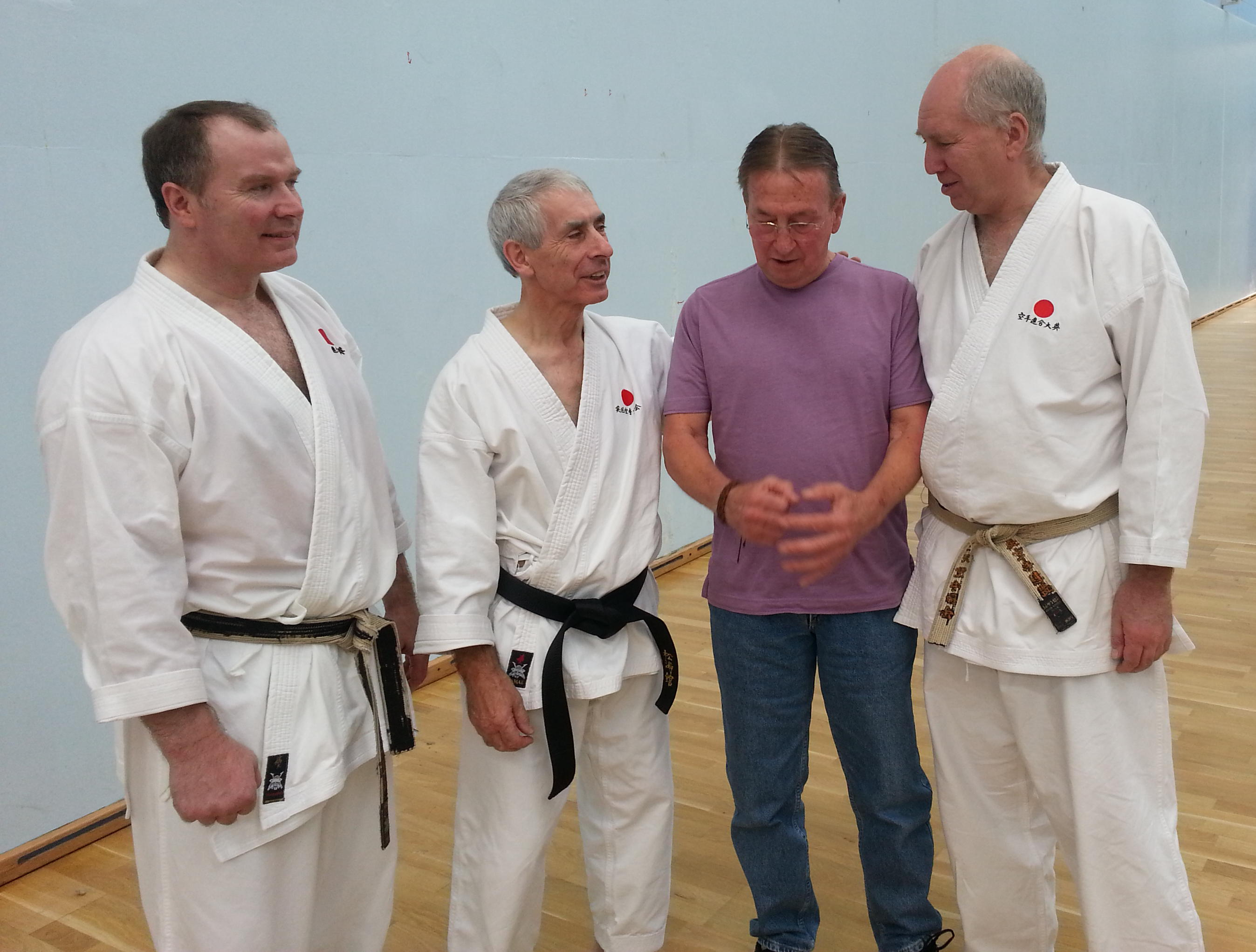 Ed with Frank Breenan, Andy Sherry and Bob Poynton